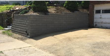 Versa Lok Lampus Pittsburgh Retaining wall