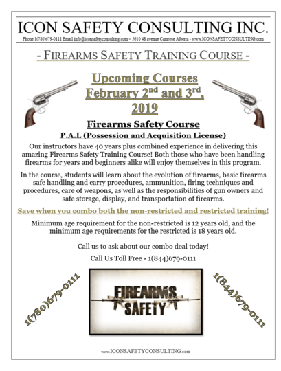 Firearms Safety Training - ICON SAFETY CONSULTING INC.