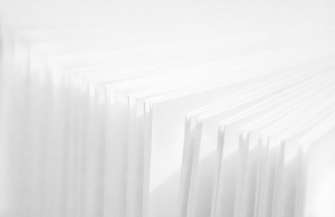 row of standing pages