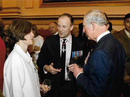 Craig Lawrence and Laura Lawrence with Prince Charles