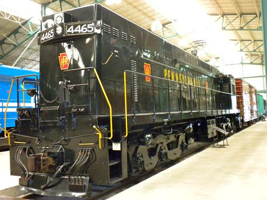Pennsylvania Railroad Locomotive 4465, last electric locomotive built for the PRR. Built by PRR Erie shops and GE on April 1963, retired ca. 1991.