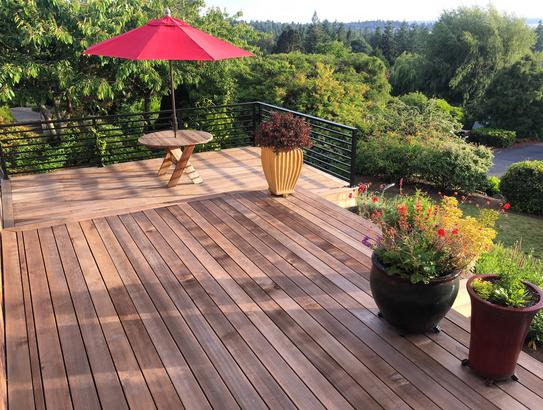 Clear, Western Red Cedar Decking
