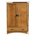 Arts and Crafts style wardrobe made from quarter sawn white oak