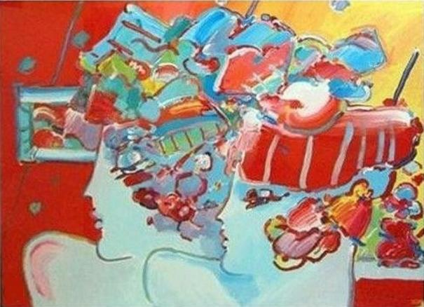 Peter Max Les Mondrian Ladies