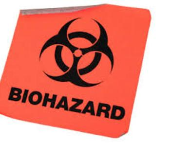 Biohazard symbol recognizing blood cleanup in Palm Beach County as a biohazard risk