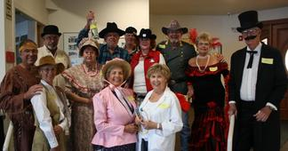 Cast of Downloadable DIY Wild West Murder Mystery Party Kit: Death in them thar hills from Carolyn Russell of Cottonwood, California