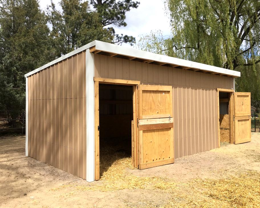 Hay Storage shed with two doors