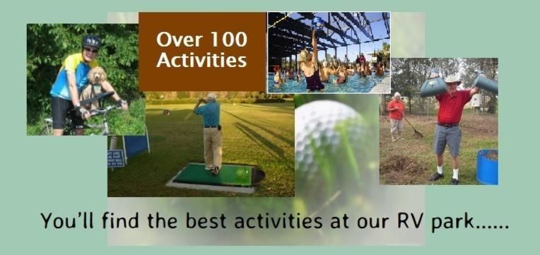 Travelers Rest RV Resort 100 Activities