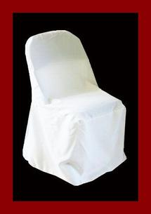 WHITE STANDARD CHAIR COVER