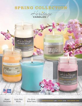 Heritage Candles Spring Collection Fundraising Brochure