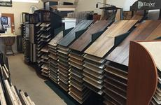 Flooring display at Floorcoverings of Marin County