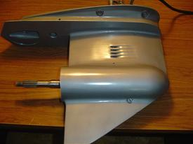 384958 Used lower unit for a 1971 50 hp Johnson or Evinrude electric shift outboard motor, 2 cylinder. #384958