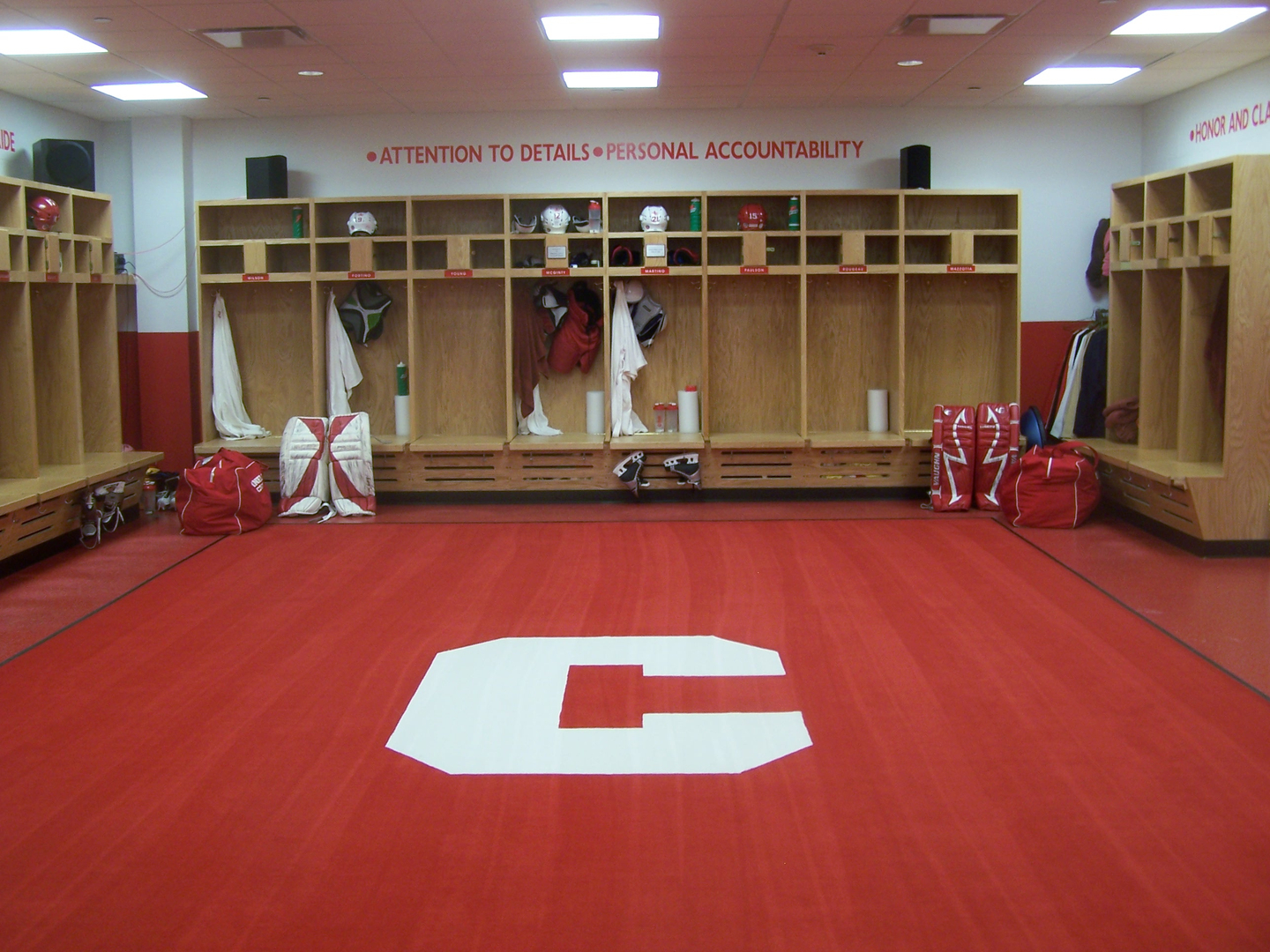 Hockey Locker Rooms