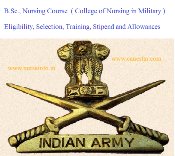bsc nursing course in military college
