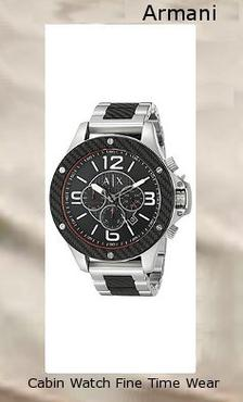 Product Specifications Watch Information Brand, Seller, or Collection Name A|X Armani Exchange Model number AX1521 Part Number AX1521 Model Year 2016 Item Shape Round Dial window material type Mineral Display Type Analog Clasp Fold-Over Clasp with Double Push-Button Safety Case material Stainless steel Case diameter 48 millimeters Case Thickness 15 millimeters Band Material Stainless steel Band length Men's Standard Band width 22 millimeters Band Color Black Dial color Black Bezel material Stainless steel Bezel function Stationary Movement Analog quartz Water resistant depth 330 Feet,armani