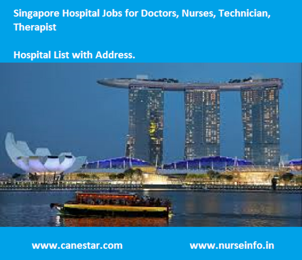 singapore hospital list for nurse job