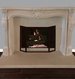 French Classic cast stone fireplace mantel