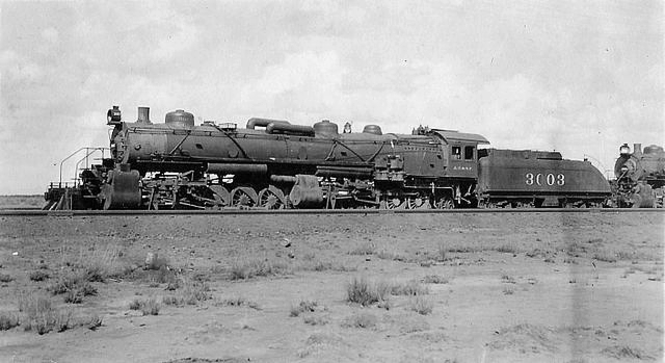 A 2-10-10-2 Mallet Locomotive in Winslow, Arizona, during 1913-14.