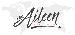 Travel blogger, logo link to I am aileen travel site