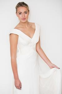 Couture Silk Wedding gown, Maj