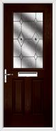 2 Panel 1 Square Composite Door fusion glass