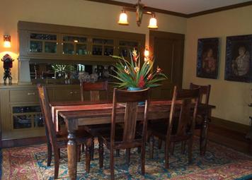 A dining room finished after our historic home repair in Tampa, FL