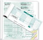 Large and small cheque deposit books with 2-copy or RBC's 3-copy.