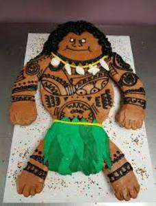 Maui Demigod, Disney style Party Cake