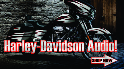 harley-davidson speakers amps subs canton akron alliance ohio. Rockford Fosgate Street Glide speaker kit.