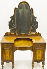 Antique Desk with Mirror
