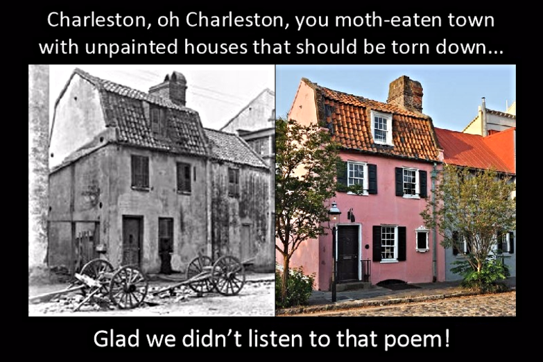 See the Pink House taven on Charleston walking tour
