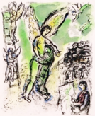Marc Chagall Jacob Wrestles with the Angel