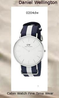 Product Specifications Watch Information Brand, Seller, or Collection Name Daniel Wellington Model number 0204DW Part Number DW00100018 Model Year 2014 Item Shape Round Dial window material type Mineral Display Type Analog Clasp Buckle Metal stamp Stainless steel Case material Stainless steel Case diameter 40 millimeters Case Thickness 6 millimeters Band Material Nylon Band length Men's Standard Band width 20 millimeters Band Color Two Tone Dial color White Bezel material Stainless steel Bezel function Stationary Calendar Date Special features Second hand Item weight 2.40 Ounces Movement Quartz Water resistant depth 99 Feet,daniel wellington