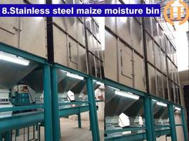 Stainless steel pipes in this whole maize flour milling section