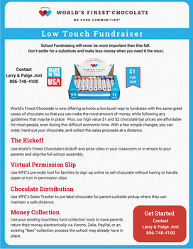 worlds finest chocolate low touch fundraiser