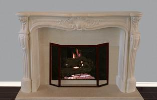 Cast Stone French Classic Fireplace Mantel