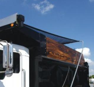Aero Economy Easy Cover Flip Tarp System with steel or aluminum arms for dump trucks or trailers up to 21 feet long