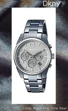 Product specifications Watch Information Brand, Seller, or Collection Name DKNY Model number NY2441 Part Number NY2441 Item Shape Round Dial window material type Mineral Display Type Analog Clasp Fold-over-clasp-with-double-push-button-safety Case material Stainless steel Case diameter 40 millimeters Case Thickness 10 millimeters Band Material Stainless steel Band length Women's Standard Band width 20 millimeters Band Color Blue Dial color Grey Bezel material Stainless steel Bezel function Stationary Calendar Date Special features Luminous, measures-seconds, Chronograph Item weight 5.28 Ounces Movement Japanese quartz Water resistant depth 165 Fee