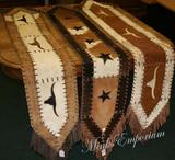 Cowhide and Leather Table Runners