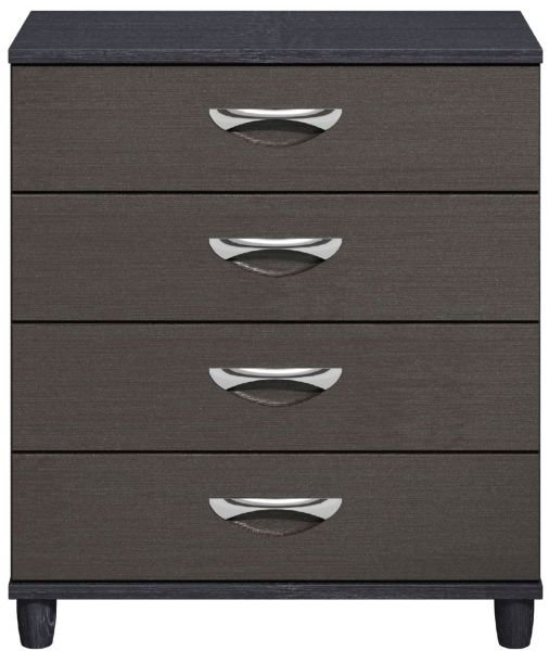 Moda Black Oak & Graphite Chest of Drawers - 4 Drawers