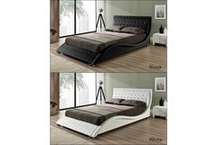 Andorra Designer Bed Frame- Black or White, Double or King Size