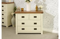 New Hampshire 2 + 2 Drawer Chest in grey/oak or cream/oak