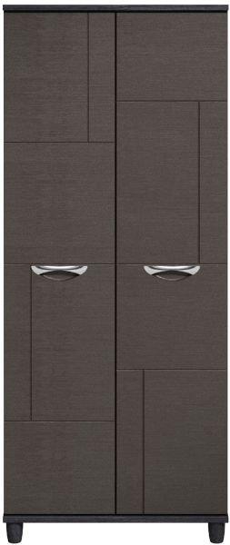 Moda Black Oak & Graphite Wardrobe - 2 Doors
