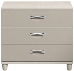Moda elm & cashmere Wide Chest of Drawers - 3 Drawers