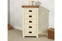 New Hampshire 5 Drawer Chest cream/oak or grey/oak