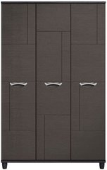 Moda Black Oak & Graphite Wardrobe - 3 Doors