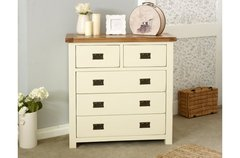New Hampshire 3 + 2 Drawer Chest cream/oak or grey/oak