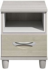 Moda elm & cashmere Bedside Cabinet - 1 Drawer