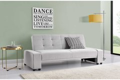Chicago 2/3 Seater Fabric Sofa Bed- Light Grey