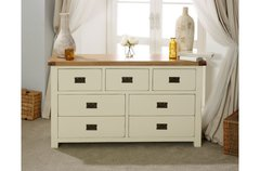 New Hampshire 3 Over 4 Drawer Chest grey/oak or cream/oak